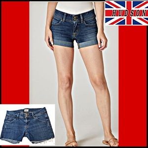 HUDSON CROXLY MID-RISE CUT OFF JEAN SHORTS 26